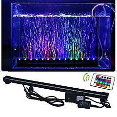 LED Aquarium Lights 50 SMD 5050 lm RGB Remote-Controlled Decorative Waterproof AC 100-240 V 1 pcs