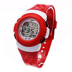 Gyerekek Sportos óra digitális karóra Digitális LCD Naptár Kronográf riasztás Sportos óra Plastic Zenekar Fekete Kék PirosFekete Piros