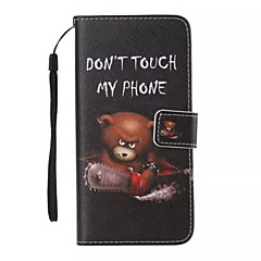 Til Etui iPhone 5 Lommebok Kortholder med stativ Flipp Mønster Etui Heldekkende Etui Dyr Hard PU-lær tiliPhone 7 Plus iPhone 7 iPhone 6s