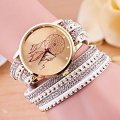 Damskie Modny Zegarek na bransoletce Kwarcowy Skóra Pasmo Czarny Biały Niebieski Czerwony Zielnony Różowy Purpurowy RoseGreen Niebieski