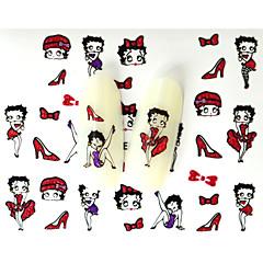 Adesivi 3D unghie-Cartoni animati / Adorabile- perDito / Dito del piede- diAltro-10pcs-6.5*5.2