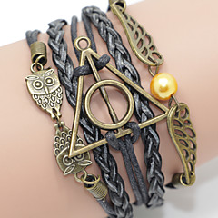 Brown Harry Potter Wings Multilayer Bird & Life Tree Weave Bracelet