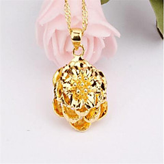 Zircon / Gold Plated Necklace Pendant Necklaces Party / Daily / Casual 1pc