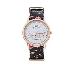 Women's Dress Watch Fashion Watch / Quartz Leather Band Vintage Casual Black White Blue Brown Grey Pink Beige