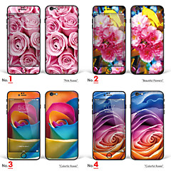 """iPhone 6 Plus/6S Plus Body Art Skin Sticker: """"Pink Roses, Beautiful Flowers, Colorful Roses"""" (Plants Series)"""