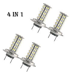 4 In 1 H7/3528SMD 68 White LED Lamp 12V 5500K Color Temperature
