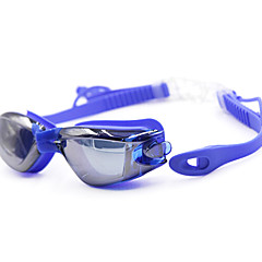 Swimming Goggles Unisex Anti-Fog / Waterproof Silica Gel PC Gray / Black / Blue / Dark Blue / TransparentBlue / Dark Blue / Purple / Red