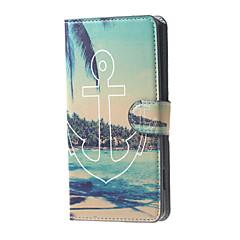 horgony tengerparti kilátás minta pénztárca bőr flip-állvány esetében kártyanyílás Microsoft Lumia 650