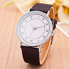 Women's  Fashion  Simplicity Rhinestone Quartz  Leather Lady Watch Cool Watches Unique Watches