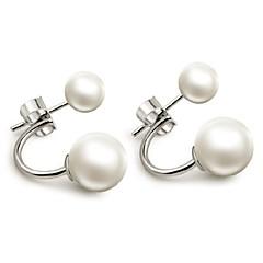 Σκουλαρίκι Κουμπωτά Σκουλαρίκια Κοσμήματα 1pc Γάμου / Πάρτι / Καθημερινά / Causal / Αθλητικά Ασήμι Στερλίνας / Απομίμηση Μαργαριταριού