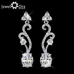 Earring AAA Cubic Zirconia / Imitation Diamond Geometric Drop Earrings Jewelry Women Wedding / Party / Daily / CasualSilver / Sterling