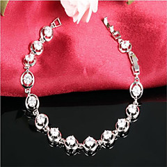 Platinum Plated Bracelet Charm Bracelets Party / Daily / Casual 1pc