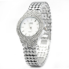 Damen Modeuhr Quartz Armbanduhren für den Alltag Edelstahl Band Silber / Gold Marke-