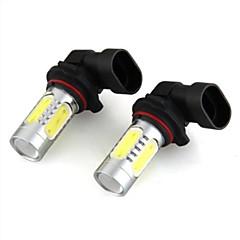 2 i 1 HB4 / 9006 4 førte 11W cob hvidt lys med linse