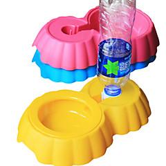 Tigelas e Bebedouros Plástico Portátil Verde / Azul / Castanho / Rosa / Amarelo