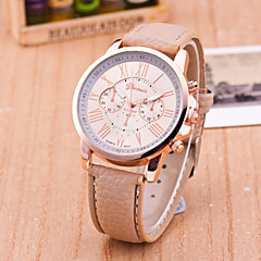 Women's European Style Fashion Personality Leather Roman Numerals Wrist Watch Cool Watches Unique Watches