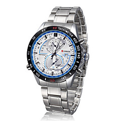 Men CURREN watch Quartz Waterproof Sports Watch Calendar Genuine Stainless Steel Wristwatch (Assorted Color) Wrist Watch Cool Watch Unique Watch