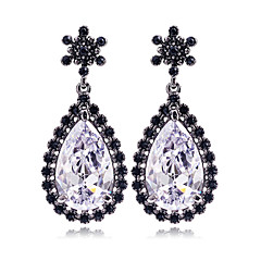 Original Design Bridal Brinco Wedding Accessories Bling Crystal Waterdrop Earring Drop Long Earrings for Women