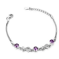 Sterling Silver / Zircon Bracelet Chain & Link Bracelets Wedding / Party / Daily / Casual / Sports 1pc