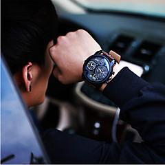 homens jis relógio de quartzo relogio de esportes impermeáveis calendário do relógio couro genuíno relógio de pulso montre reloj (cores