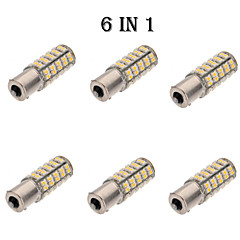 6 in 1 warm wit 1156 BA15s 68 patch 3528 auto gloeilampen (12V)