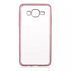 Για Samsung Galaxy Θήκη Επιμεταλλωμένη / Διαφανής tok Πίσω Κάλυμμα tok Μονόχρωμη TPU Samsung J7 / J5 / Grand Prime