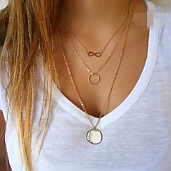 Dam Hänge Halsband Cirkel Form Oändlighet Legering Mode Minimalistisk Stil Europeisk kostym smycken Smycken Till Party Dagligen Casual