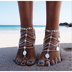 Women's Anklet/Bracelet Silver Alloy Unique Design Fashion Multi Layer European Personalized Bikini Jewelry Silver Women's Jewelry For
