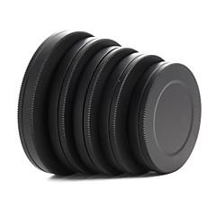 lentille filtre avant arrière capuchon métallique 37 / 40,5 / 43/46 / 49mm de boîte portative de protection