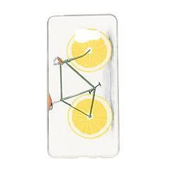 narancs kerékpár minta TPU puha tok telefon tok samsung galaxy A3 / A5 / A7 / a3 10 / A510 / A710