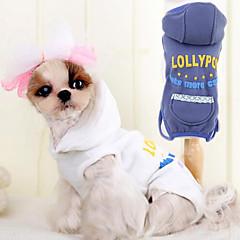 Perros Mono Blanco / Azul Ropa para Perro Primavera/Otoño Moda
