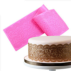 Silicone Lace Mats Mold Lace Mat Fondant Cake Decorating Wedding Flower Embossing Mould