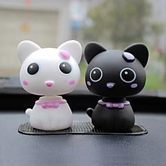 ziqiao carro encantadoras ornamentos cabeça do gato Figuras de produtos automotivos interior