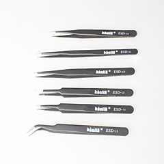 Black Non-magnetic Tweezers, Anti-static Bag For Electronics, Jewelry Making, Laboratories, Etc. (6P)