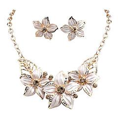 European Diamond Flower  Alloy Jewelry Set Wedding / Party / Daily / Casual 1set