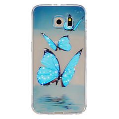 Butterfly Pattern TPU Relief Back Cover Case for Galaxy S5/Galaxy S6/Galaxy S6 edge/Galaxy S6 edge Plus