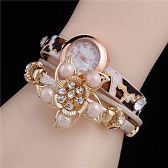 Xu™ Women's Flower Leopard Grain Analog Quartz Watch Cool Watches Unique Watches