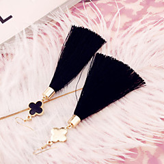 Simple low-key luxury tassel pendant earrings plum female earrings alloy