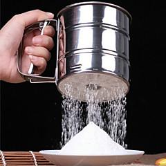 käsivoimin tyyppi ruostumaton teräs jauhe seula cup seulan jauhot kakku työkaluja