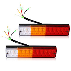 2X Led Tail Lights Boat Truck Trailer Caravan Stop Brake Reverse Indicator 12V