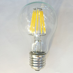 10W 12W E26/E27 LED-glødepærer A60(A19) 12 COB 1050 lm Varm hvit Naturlig hvit Dekorativ Vanntett AC 220-240 V 1 stk.