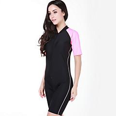 SBART Women's Diving Suits / Rash guard / Wetsuit Skin Diving Suit Ultraviolet Resistant Dive Skins 3 to 3.4 mmYellow / Blue / Light