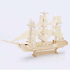 بانوراما الألغاز قطع تركيب3D تركيب خشبي اللبنات DIY اللعب سفينة خشب