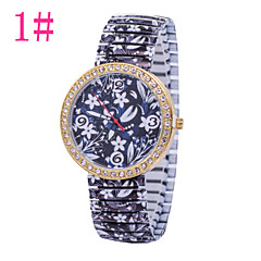 Women's Fashion Watch Retro Print Drawstring Diamond Watches Quartz Watch Heart-Shaped Red Stripes Cool Watches Unique Watches