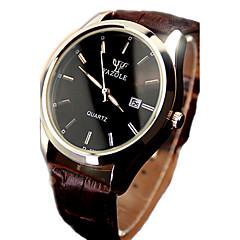 Męskie Zegarek na nadgarstek Kwarcowy Kalendarz Wodoszczelny Świecący Skóra Pasmo Czarny Brązowy Brown Black/White Black Brown/White