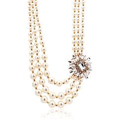 Imitation Pearl Three Layered Necklace