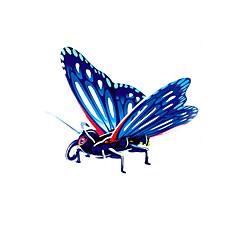 Rompecabezas Puzzles 3D Bloques de construcción Juguetes de bricolaje Mariposa Papel Rojo / Verde / Azul / AmarilloModelismo y