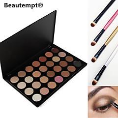 4 göz farı fırça ile 28 renk dumanlı göz farı / taban astarı / vakıf / allık / bronzlaştırıcı profesyonel kozmetik paleti
