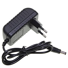 eu plugg 12v 1a 5,5 x 2,1 mm ledet stripe lys / CCTV sikkerhet kamera monitor strømadapter dc2.1 AC100-240V