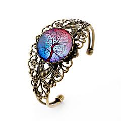 Charm-armbånd Armbånd minimalistisk stil Skåret Galakse Ædelsten Sølvbelagt Glas Legering Blomstformet Bronze Smykker ForFest Daglig